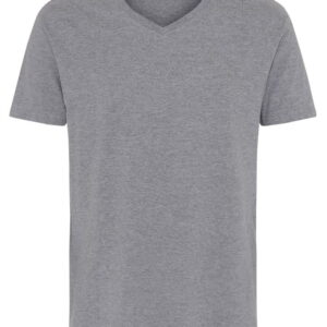 Basic T Shirt V Neck Grå