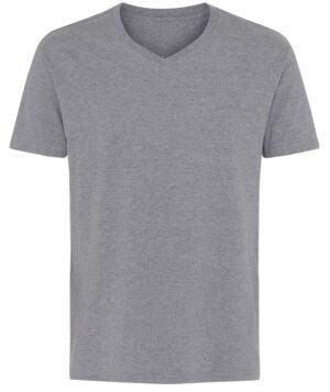 Basic T Shirt V Neck Grå