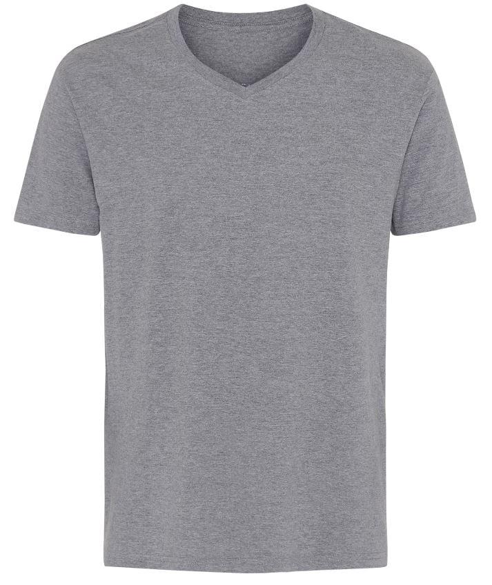 Basic T-shirt V-Neck Grå