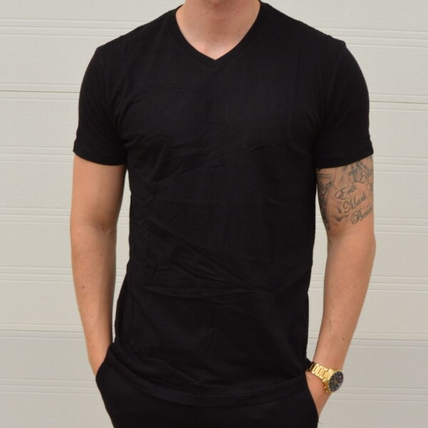 Basic T Shirt V Neck Sort 1