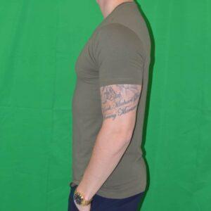 Premium Xtreme Stretch T Shirt Army Groen Tshirt
