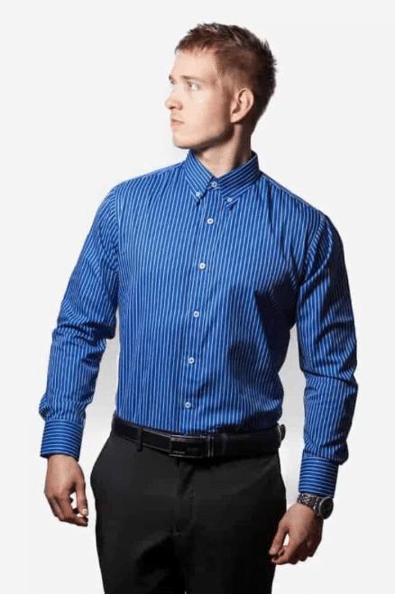 Tailormade Skjorte Blå Og Hvid