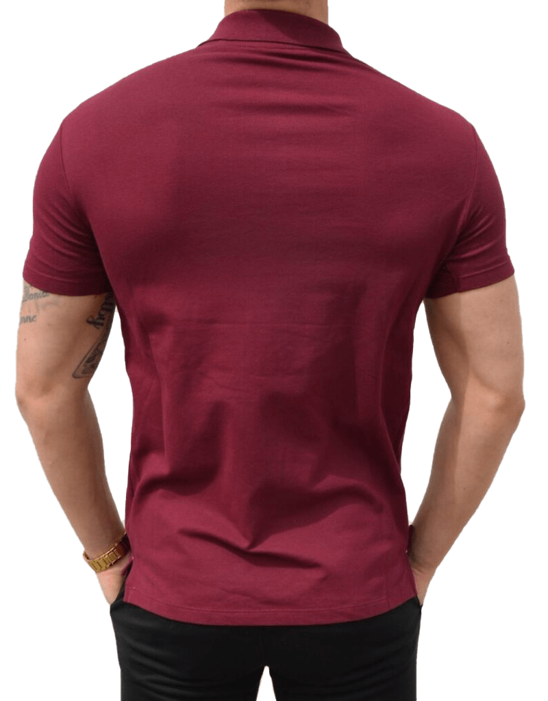 Red Polo Back Cut