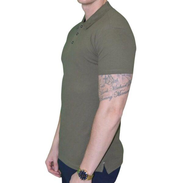 Xtreme stretch Poloshirt Army Grøn - side