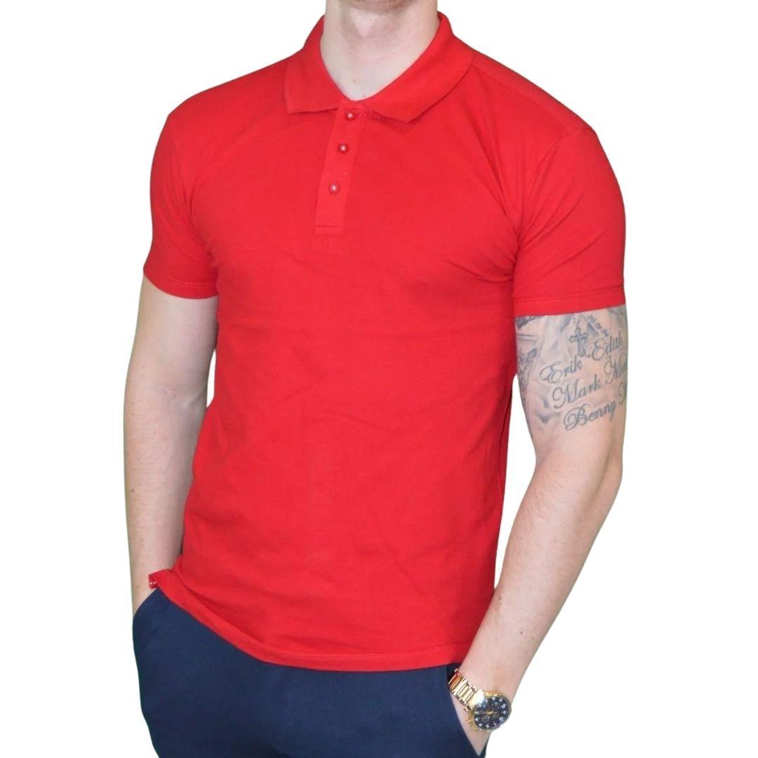 Xtreme stretch Poloshirt Rød