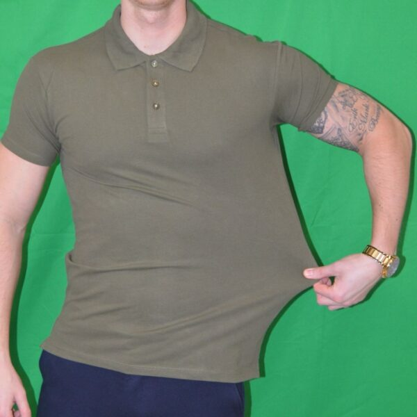 Xtreme Stretch Poloshirt Army Groen Polo T Shirt