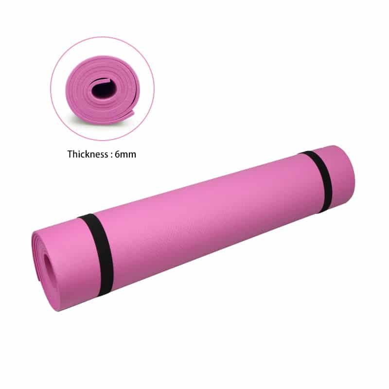 Yogamåtte Lyserød 6mm
