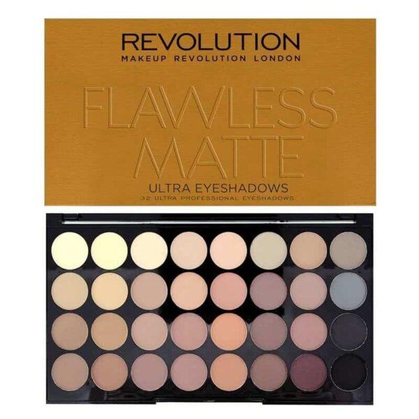 Makeup Revolution Ultra 32 Shade Eyeshadow Flawless Matte 1