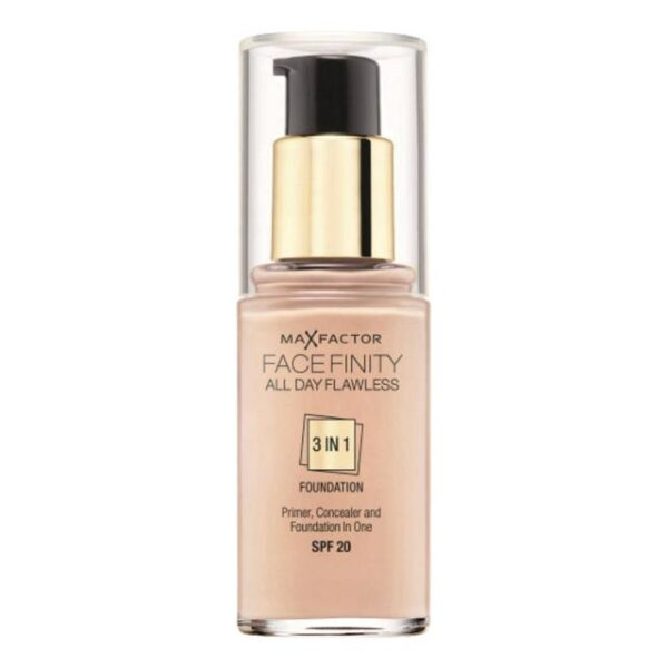Max Factor Face Finity All Day Flawless 3in1 Foundation SPF20 75 Golden 1