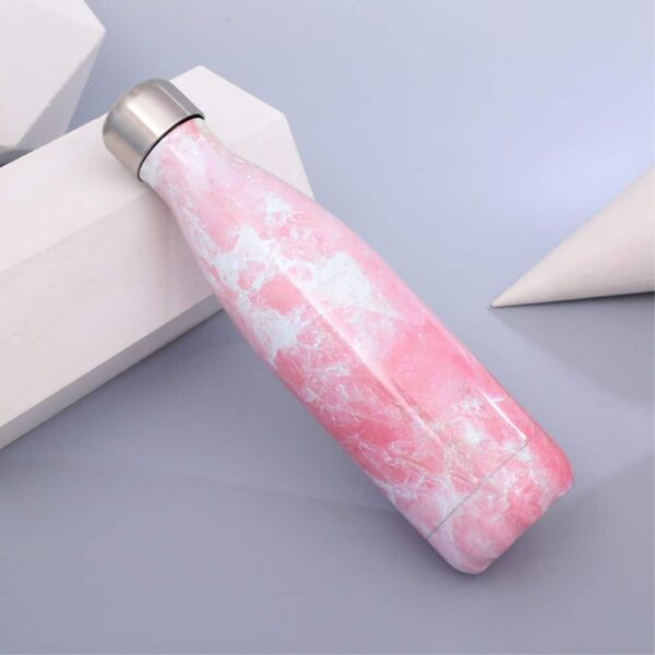 Termoflaske Marmor Look Pink 2